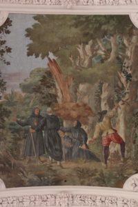 Rodungsarbeiten der Waldsassener Brüder - Deckenfresko Chor Basilika Waldsassen